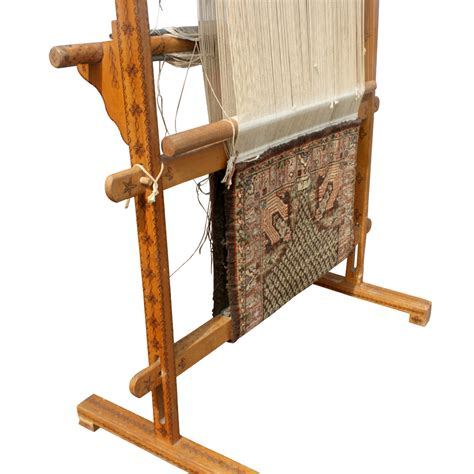 Antique Rug Loom antique vertical weaving loom with rug ebay