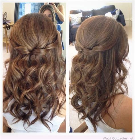 prom hairstyles half up half down curly 55 stunning half up half down hairstyles