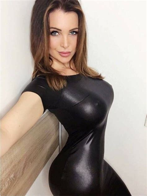 Blouse W Sabrina Hellen beautiful wearing skin tight dresses thechive