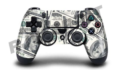 Playstation 100 Dollar Gift Card - playstation 4 ps4 controller cover skin wrap 100 dollar bill design ebay
