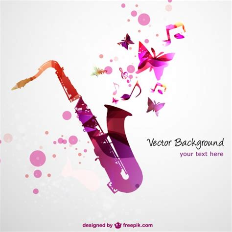 Wedding Background Jazz by Saxophone Vector Free Background Vector Free Vector