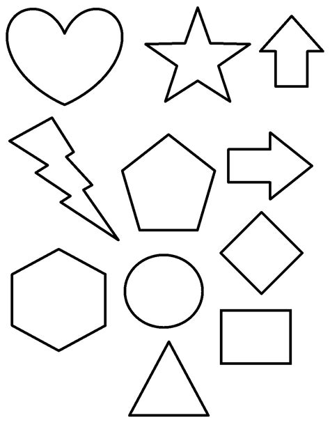 Shapes Coloring Page free printable shapes coloring pages for