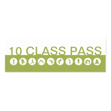 10 class pass card template business card 10 class pass zazzle