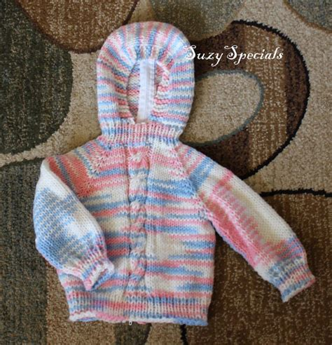 knitting pattern baby sweater zipper up back hooded knitted baby sweater with back zipper by suzyspecials