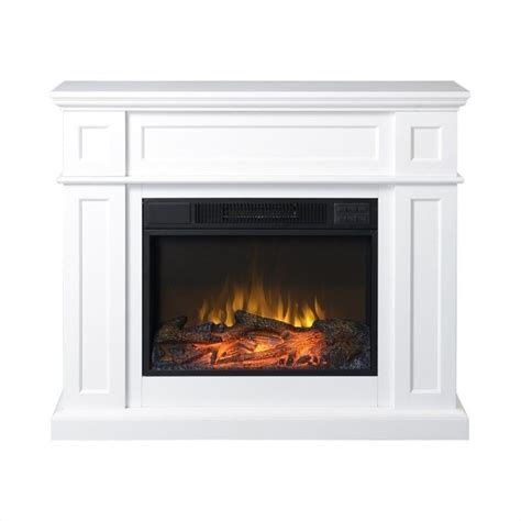 "Homestar 41"" Wide Electric Fireplace Mantel in White ZCUMBRIA"