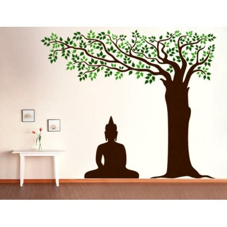 buddha under tree wall decal kcwalldecals: buy wall