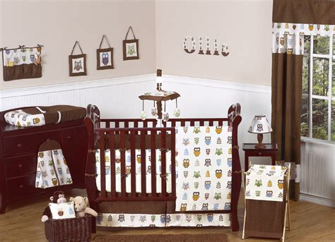 Owl Baby Crib Set Owl Crib Bedding Collection