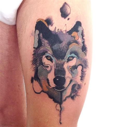 watercolor tattoo artists yorkshire watercolor wolf pinteres
