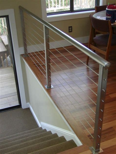 Indoor Garden Architecture Cable Railing Systems With Modern Wire Deck Cable Railing