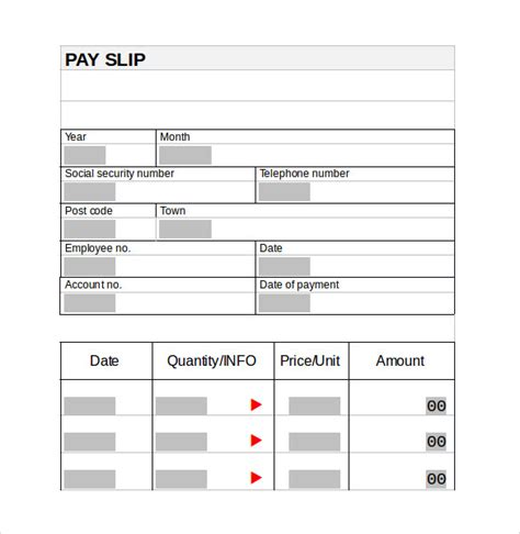 pay stub template word document pay stub template 15 free documents in pdf