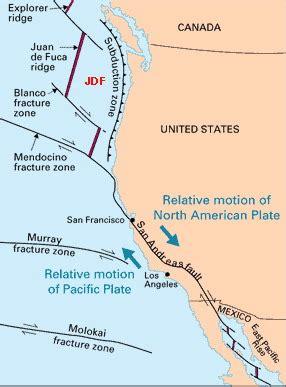 Plates Western North America Plate Boundaries