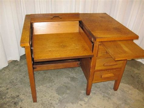 typewriter desk for sale vintage solid oak typewriter desk secondhand pursuit