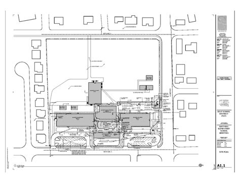 construction site plan facility construction east hill elementary addition site
