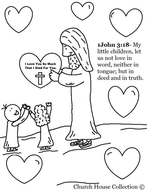 coloring pages sunday school lesson serving one another