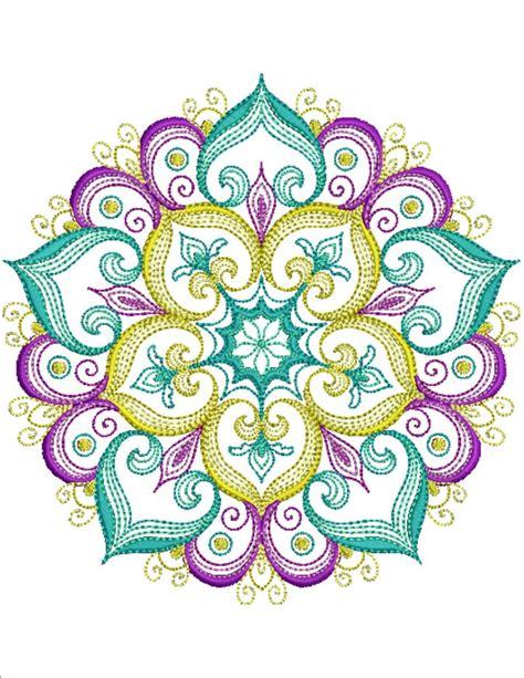 mandala embroidery patterns mandalas pattern coloring mandala essence machine embroidery designs by sew swell