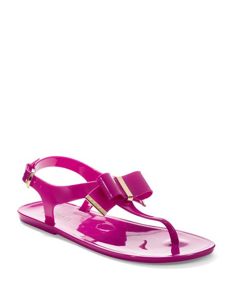 michael michael kors jelly sandals in pink lyst