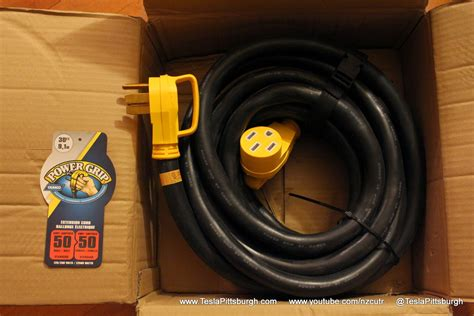 tesla umc extension cord via camco 50 30 powergrip