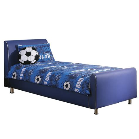 azure boys leather bed frame blue leatherbedsworld co uk