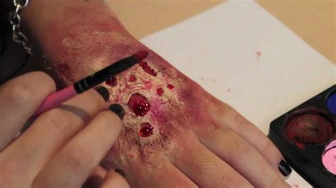 zombie flesh tutorial rotting flesh zombie skin makeup so easy you can do it