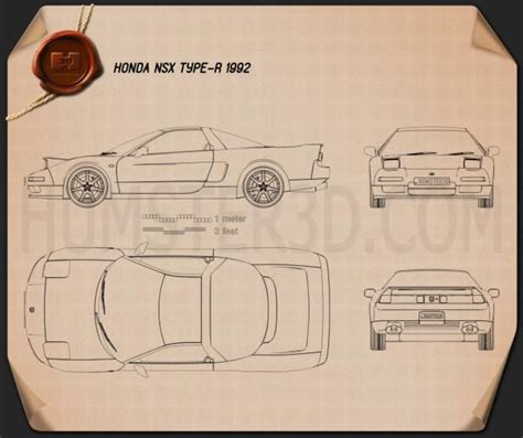 honda nsx type   blueprint humd