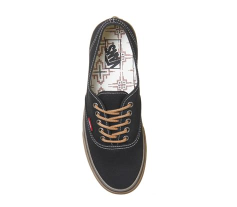 Vans Authentic Black Gum Wafle Hf vans authentic black gum unisex sports