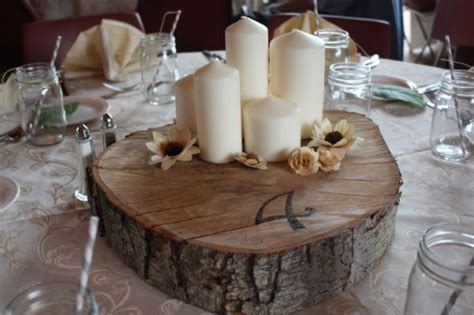 Wedding Log by Logs In Your Centerpieces Weddingbee