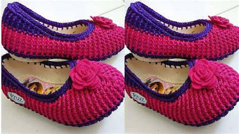 paso a paso de como hacer zapatos tejidos para nina n 186 02 zapatos y botas tejidos a crochet para damas youtube