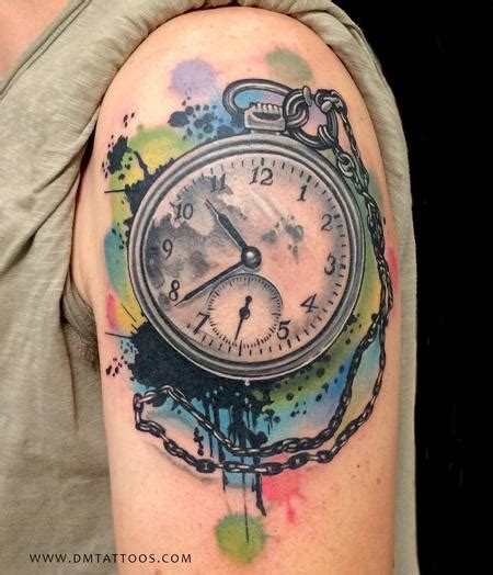 watercolor tattoo after time abstract watercolor time by david mushaney