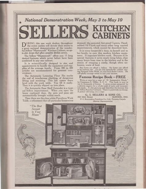 sellers kitchen cabinet history sunday adverts hoosier kitchens cabinets and
