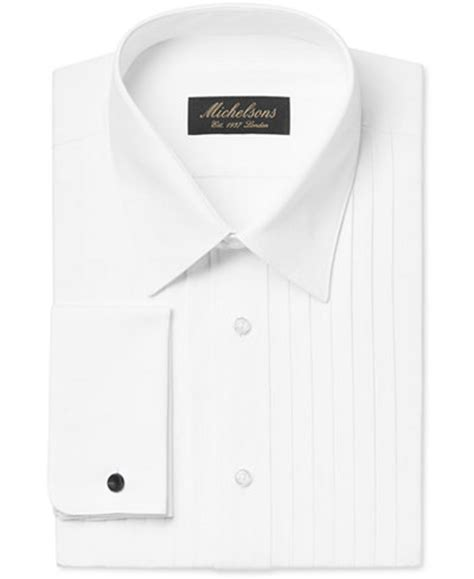 Promo Standar Fit Classic michelsons s classic fit pleated point collar tuxedo