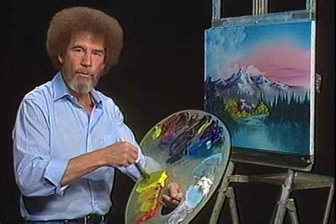 bob ross paints quality bob ross hair was actually permed page six