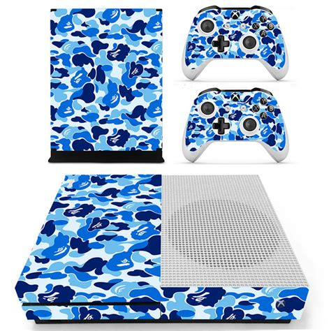 Stickers Xbox One S Personnalisé by Decal Skin Sticker For Xbox One S Slim Blue Camouflage