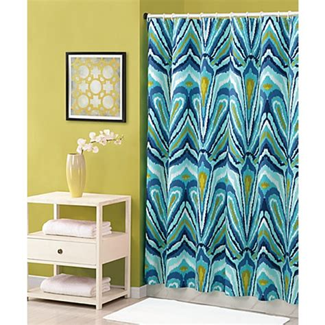 trina turk shower curtain buy trina turk 174 72 inch x 72 inch shower curtain in blue