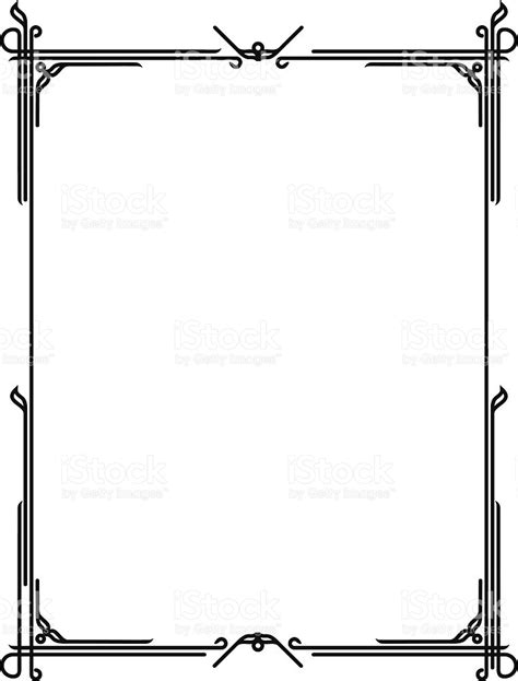 printable art deco borders art deco border stock vector art 153991944 istock