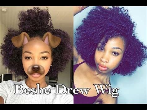 drew wig purple beshe drew wig purple unboxing review youtube