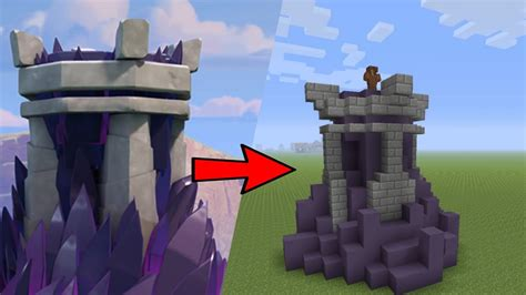 How To Make A Tower With One Of Paper - how to build a clash of clans wizard tower in minecraft