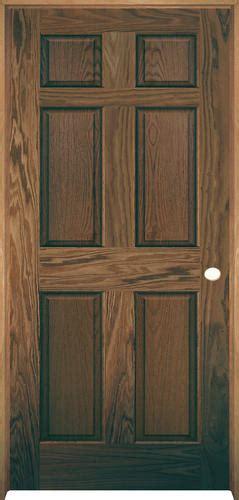Prehung Prefinished Interior Doors Mastercraft Pref Chestnut Oak 6 Panel Prehung Interior Door At Menards 174