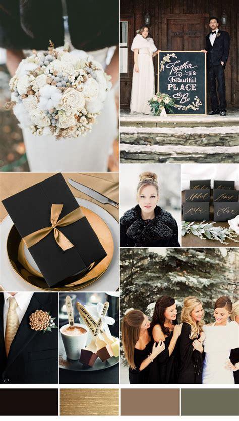 top 10 winter wedding color combos 2016