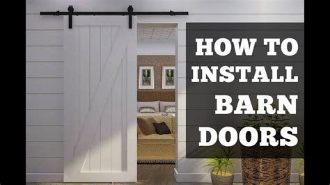 How To Install Barn Doors A Simple Step By Step Tutorial How To Hang Barn Door