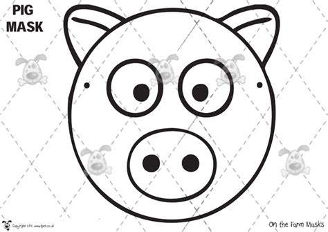 farm animal mask templates best photos of farm animal masks templates macdonald
