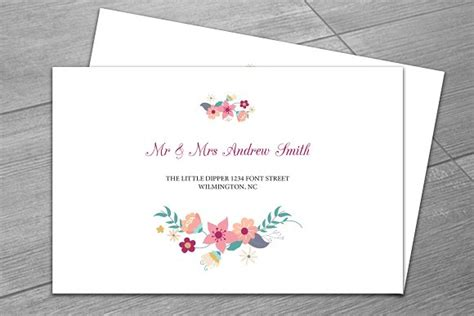 Wedding Invitation Envelope Template Wedding Envelope Template Invitation Templates Creative Market