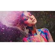 Beautiful Girl Fashion Style Paint Colorful Wallpaper