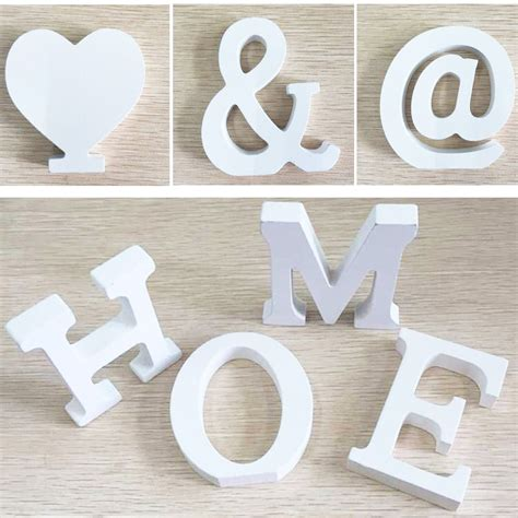 wooden letters home decor 6pcs door wedding decorations letters digital wooden