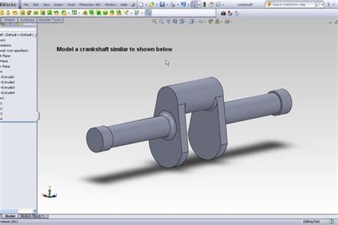 solidworks tutorial crankshaft tutorial how to perform the simulation of a crankshaft in