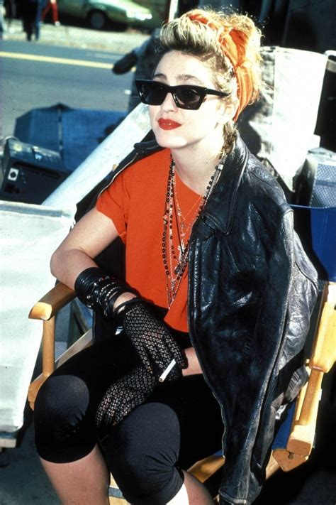 Madona Set madonna on the set of desperate seeking susan 84 madonna