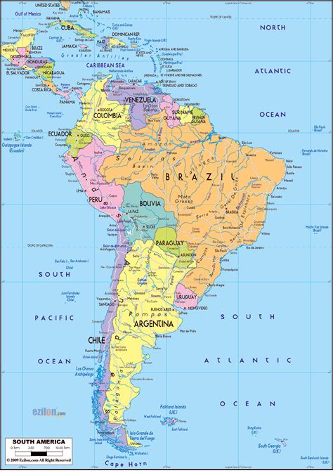 map of the south maps of south america map library maps of the world