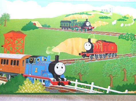 Thomas Tank Engine Wall Stickers 1 roll thomas the tank engine wallpaper border