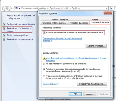 activer bureau à distance windows 7 contr 244 le 224 distance windows aidewindows