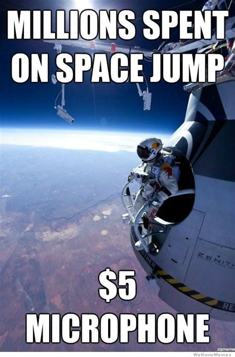Space Meme - felix baumgartner s supersonic space jump a collection