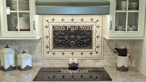 Decorative Tile Backsplash Kitchen Backsplash Plaques Ravenna Decorative Tile Medallion